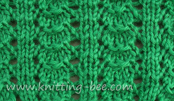 little shells knitting stitch pattern
