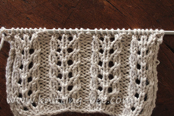 Double Eyelet Rib Knitting Pattern 1 Knitting Bee