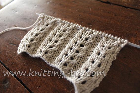 Double Eyelet Rib Knitting Pattern 2 Knitting Bee
