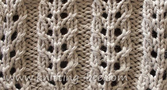 Double Eyelet Rib Knitting Bee