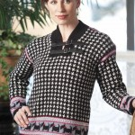Houndstooth Scotch Terrier Sweater
