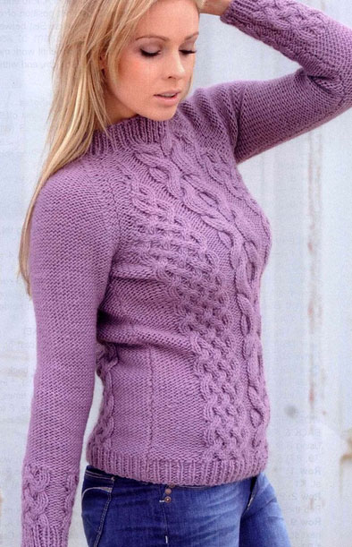 Cable Knit Sweater Knitting Pattern - Long Sweater Jacket