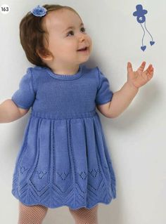 Cute Baby Knitted Dress 0 -12 Months