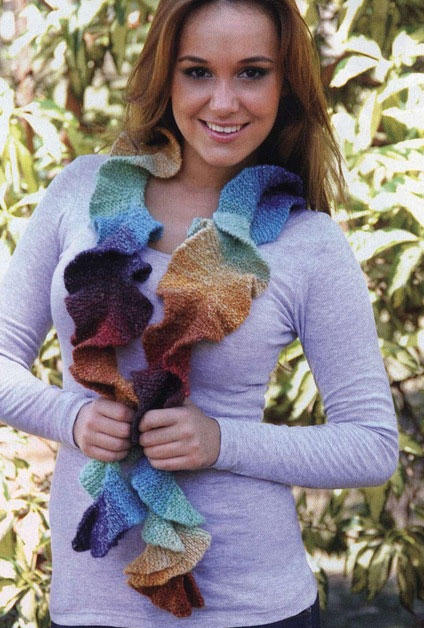 Curly Scarf Knitting Pattern