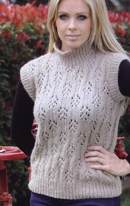 Lace Sweater Knitting Pattern : Sweater Vest Knitting Pattern myideasbedroom.com