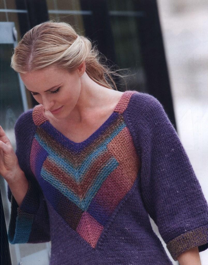 modern triangle sweater