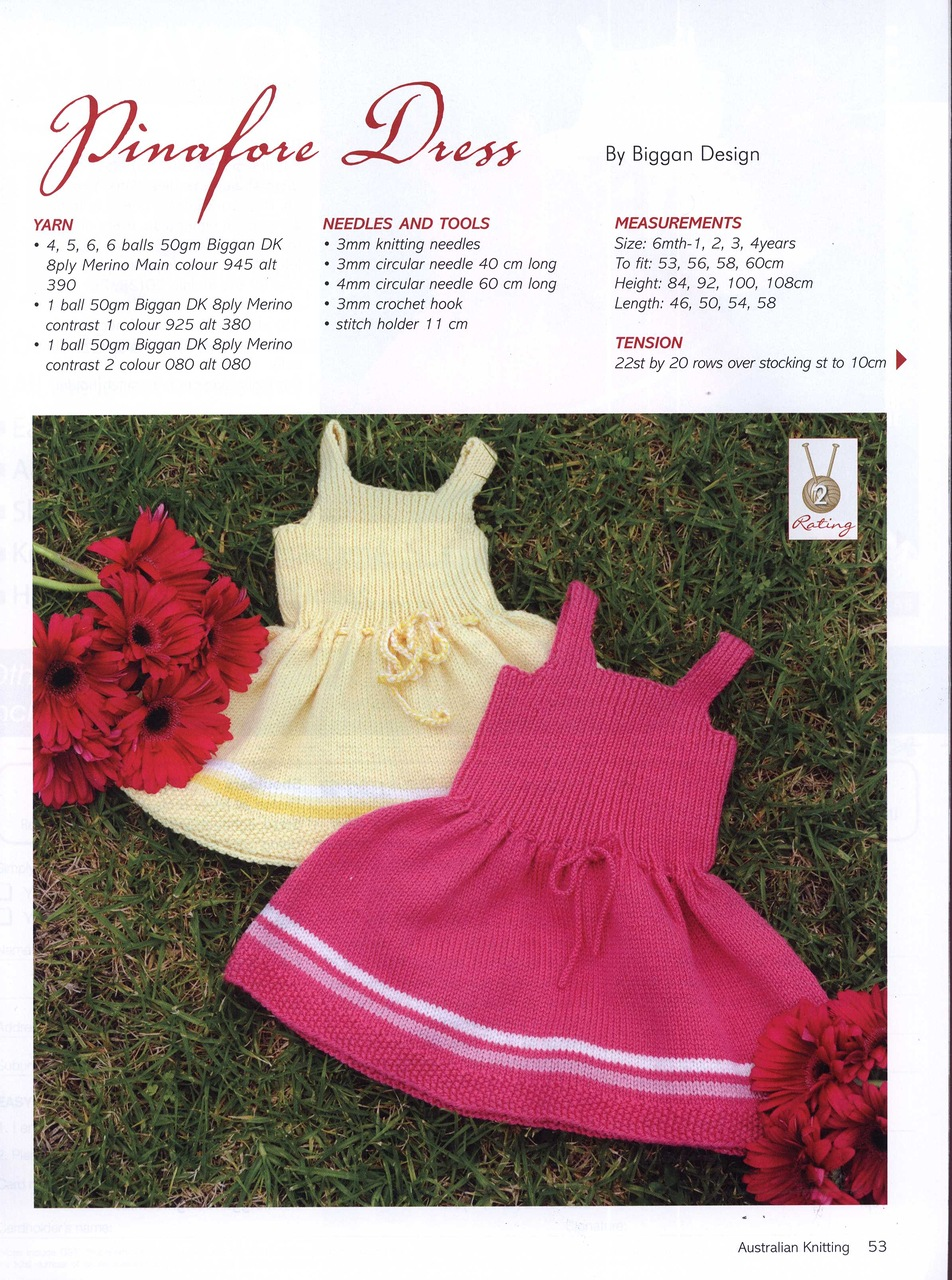 pinafore-dress-knitting-pattern-girls 1 ⋆ Knitting Bee