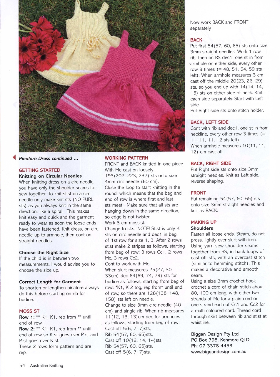 Knitted Pinafore Dress Pattern Free : Baby Pinafore Dress Pattern Knitted images