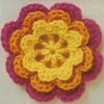 Three Layered Crochet Flower
