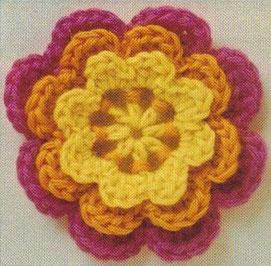 Three Layered Crochet Flower