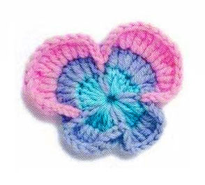 CROCHET PANSY SQUARE ? Only New Crochet Patterns