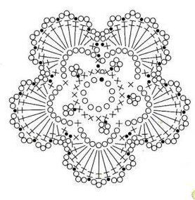 Crochet flower 5 petals knitting bee 5 petal leaft crochet 1 dt1010fo