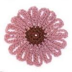 Simple Crochet Flower 2