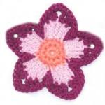 Simple 5 Petal Crochet Flower
