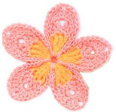Two toned 5 petal crochet flower knitting bee two toned 5 petal crochet flower two colord crochet diagram dt1010fo