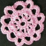 Pink Crochet Flower