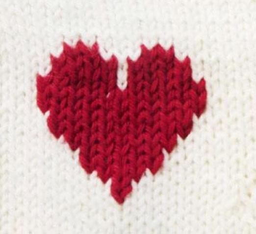 Colorwork Heart Motif