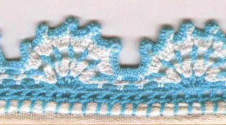 Crocheting Edges Of Knitting : Crochet Borders and Edgings ? Knitting Bee (10 free knitting ...