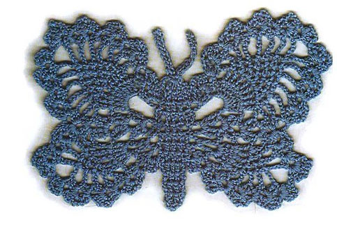 Lacy Crochet Butterfly Pattern