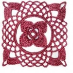 Lace Square Flower Crochet Motif
