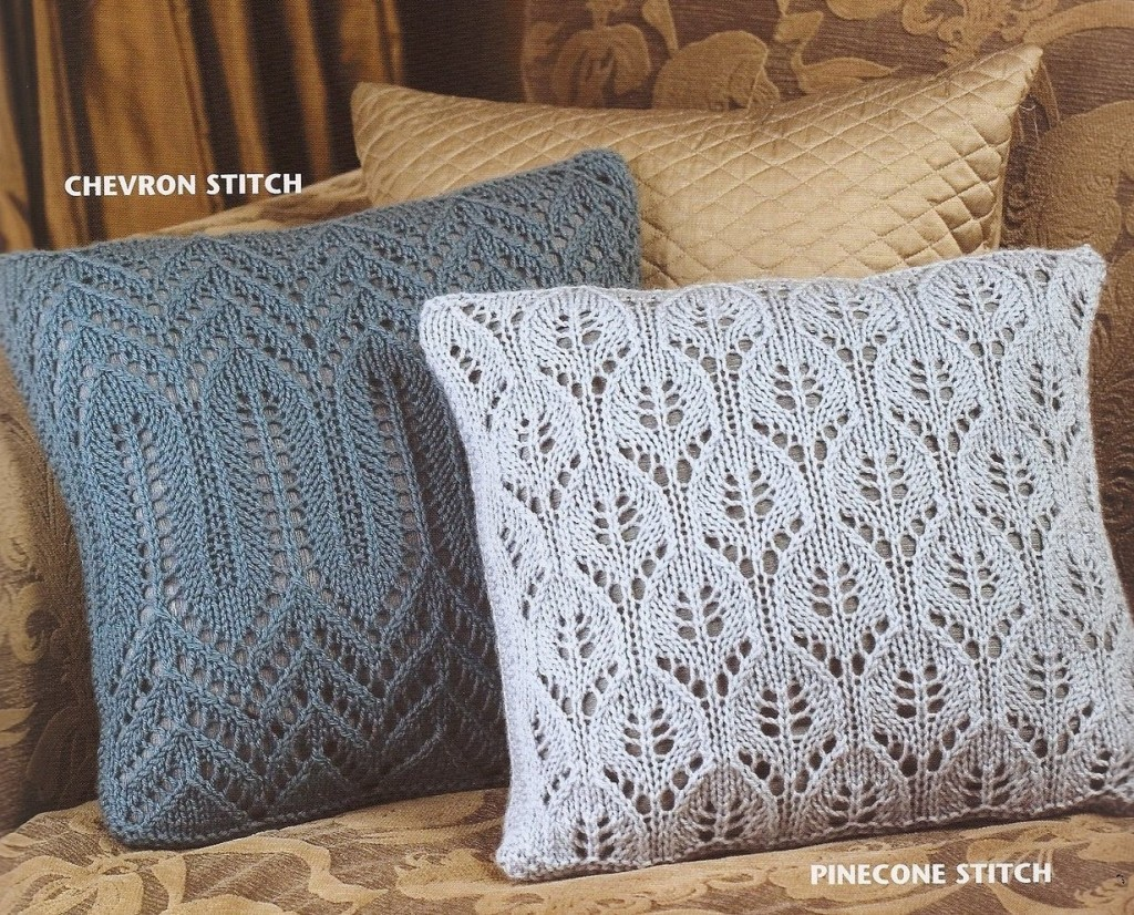 Chevron and Pinecone Stitch Pillows