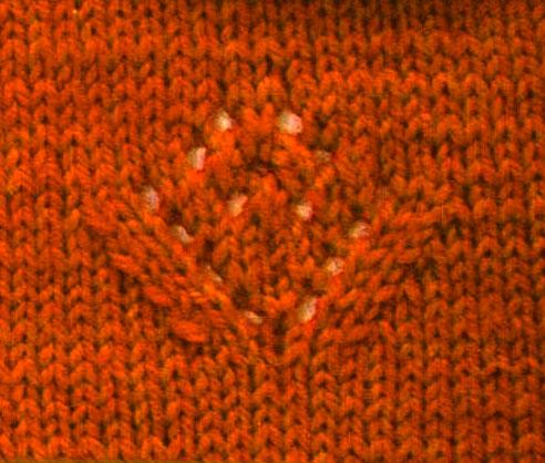 Lace Flower Knitting Motif