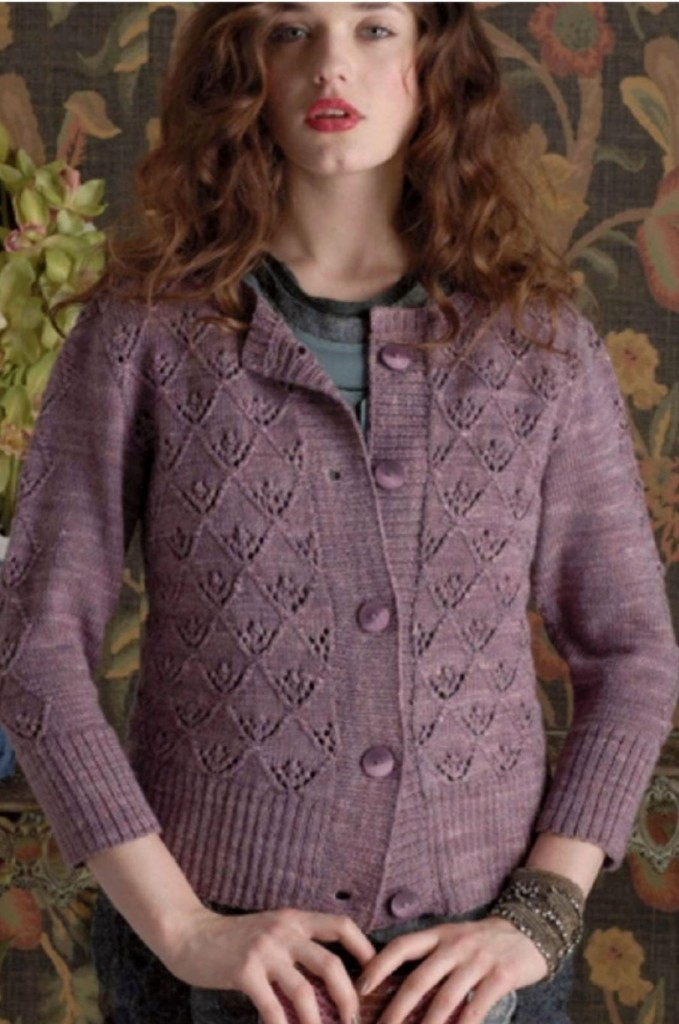 Triangle Lace Pat Cardigan