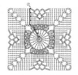 Square motif crochet pattern knitting bee square crochet motif pattern diagram ccuart Image collections