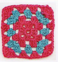 Traditional Granny Square Motif