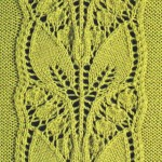 Leafy Knitted Lace Panel