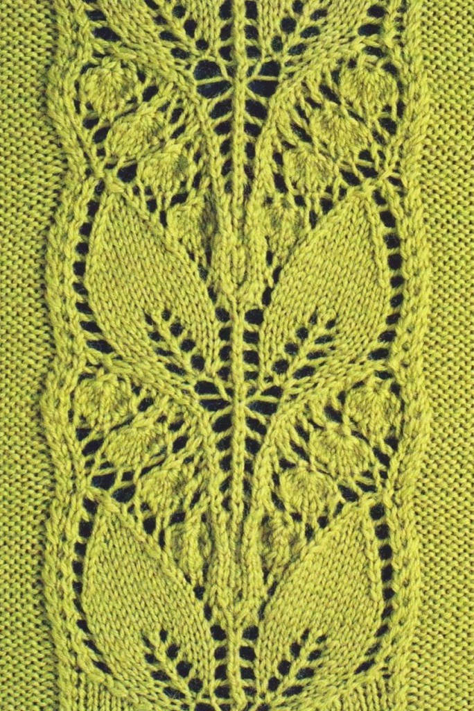 Knitting Lace Stitches Patterns : Leafy knitted lace panel ⋆ knitting bee