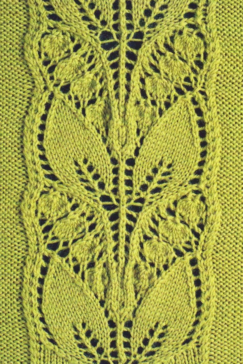 Leafy Knitted Lace Panel ⋆ Knitting Bee