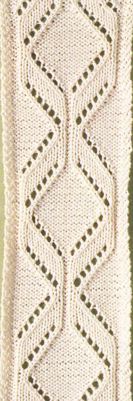 Narrow Diamond Knit Lace