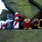 Winter Animal Family Knitted Toys