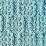 Knitted Lace Blocks Stitch