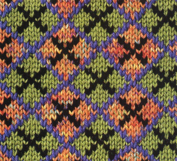 colorful argyle knitted pattern