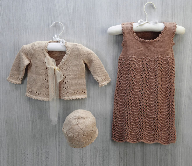 Cotton Cardi, Dress and Hat