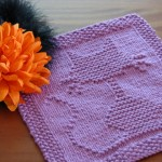 Cat Dishcloth Knitting Pattern