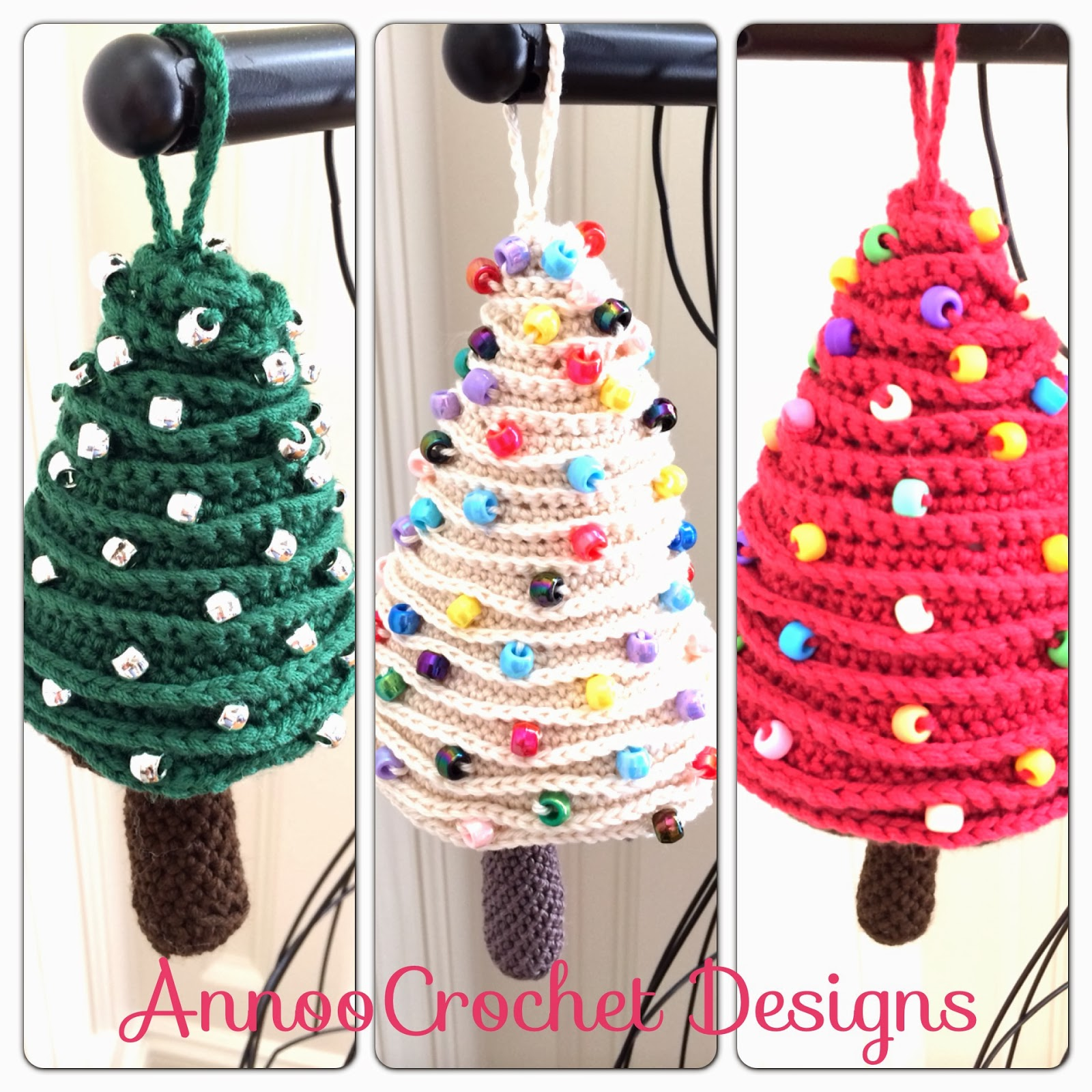 Free crochet christmas tree ornament patterns - Crochet Christmas Tree Oranment