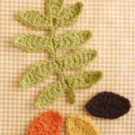 Crochet Leaves and Diagram