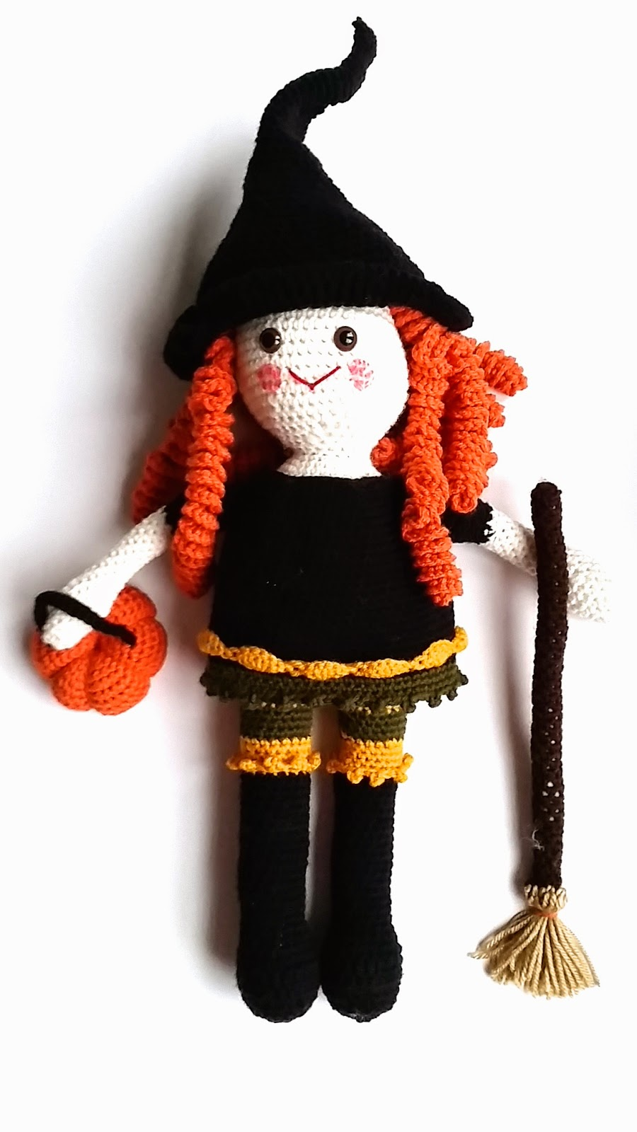 Free Crochet Friendly Witch Doll For Halloween