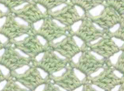 Cross Hatch Crochet Stitch