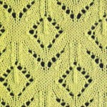 Knitted Floral Lace Chart