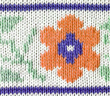 Flower Color Knit Pattern