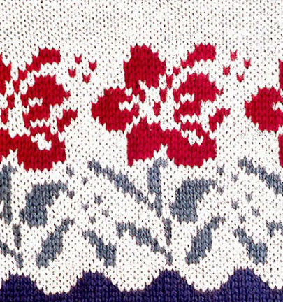 Flowers Colorwork ⋆ Knitting Bee 8 Free Knitting Patterns