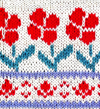 Flower Jacquard Knitting