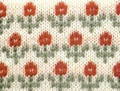 Flowers Color Knitting Chart