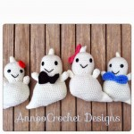 Crochet Friendly Ghost Family