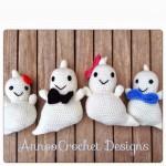 Crochet Friendly Ghost Family