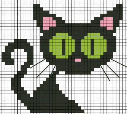 Halloween Knitted Cat Colorwork